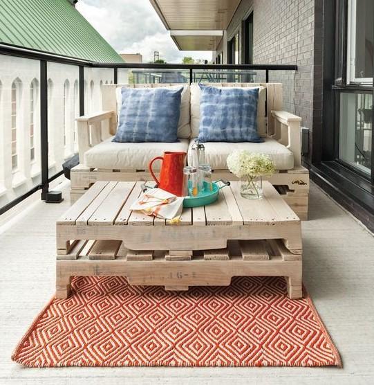 τραπέζι παλέτες μπαλκόνι παλέτες μπαλκόνι