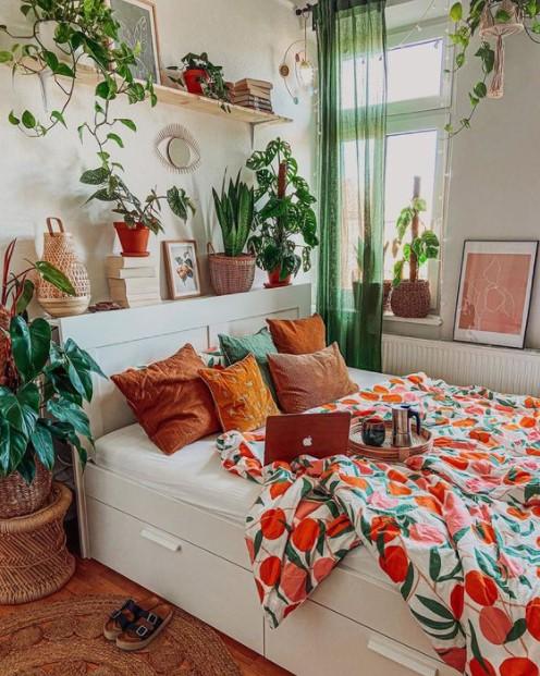 υπνοδωμάτιο φυτά κουβερλί με φρούτα