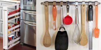 αποθηκευτικό χώρο σε μικρή κουζίνα