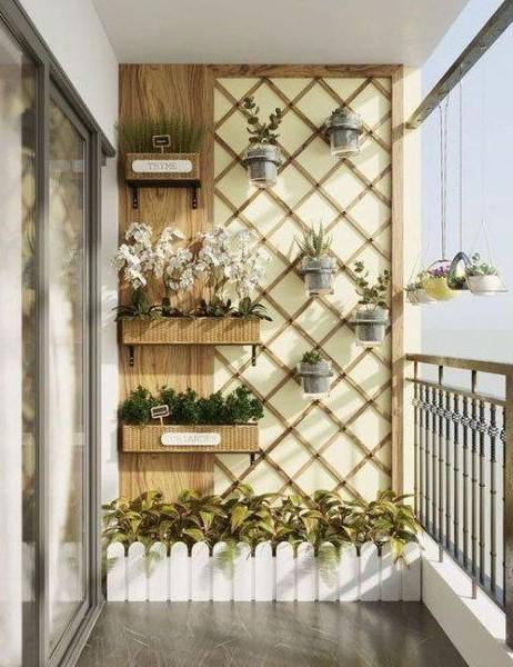 καφασωτό τοίχος μπαλκόνι