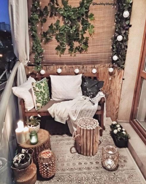 βεράντα λαμπάκια κεριά λάθη μπαλκόνι