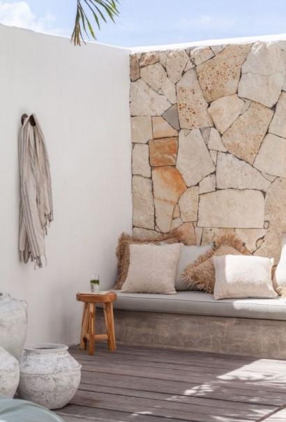 βεράντα πέτρινος τοίχος
