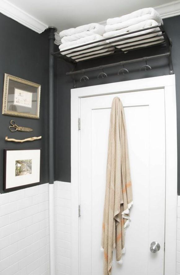 αποθήκευση πετσετών μπάνιου