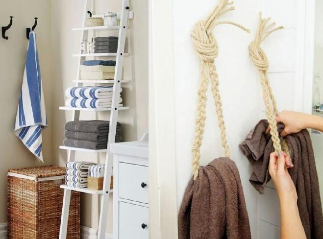 ιδέες οργάνωσης για τις πετσέτες στο μπάνιο
