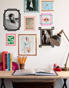κορνίζες για φωτογραφιες τοιχο διακόσμηση εφηβικό δωμάτιο