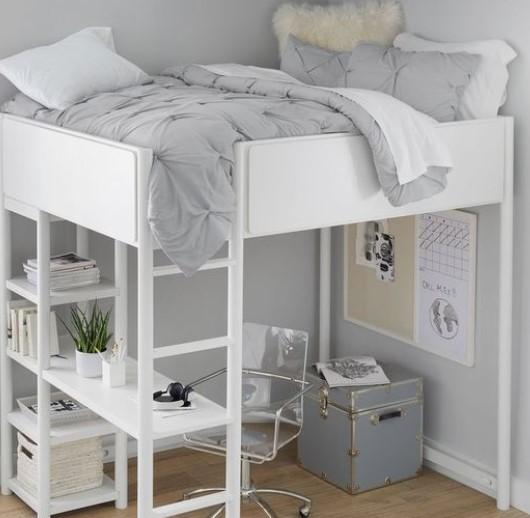 κρεβάτι υπερυψωμένο για εκμετάλλευση χώρου υπνοδωματίου