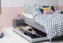 συρόμενη θήκη κάτω από κρεββάτι