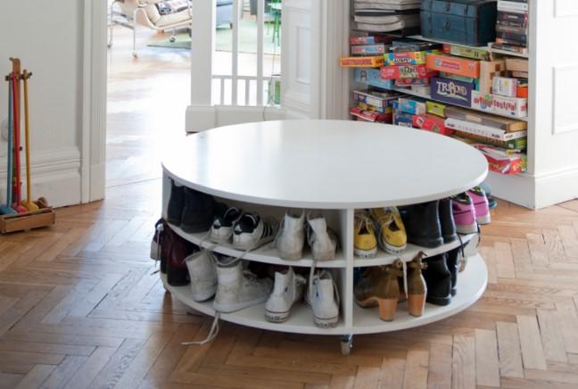 ιδέες οργάνωσης παπουτσιών περιστρεφόμενο τραπέζι