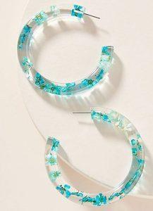 φλοράλ σκουλαρίκια κρίκοι