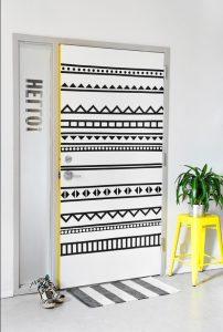 diy διακόσμηση εφηβικής πόρτας