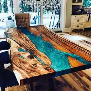 τραπέζι τραπεζαρίας εποξική ρητίνη