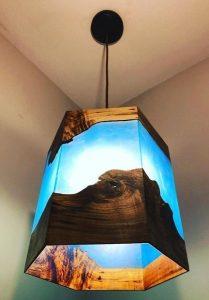 χειροποίητο φωτιστικό οροφής σαλονιού