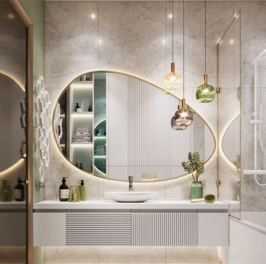 ασύμμετρος καθρέφτης μπάνιου