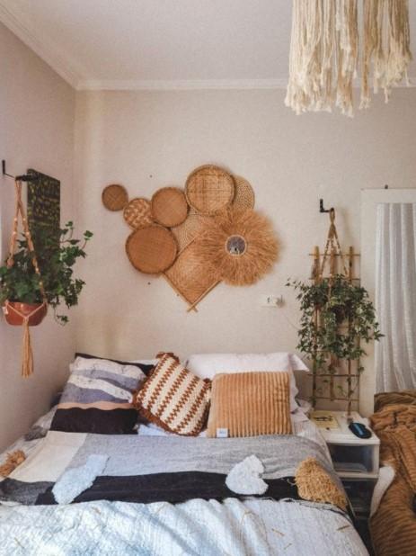 boho υπνοδωμάτιο διακόσμηση μικρού υπνοδωματίου