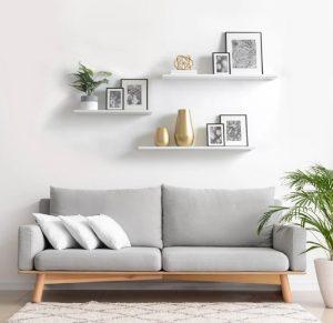 διακόσμηση άδειου τοίχου σαλονιού