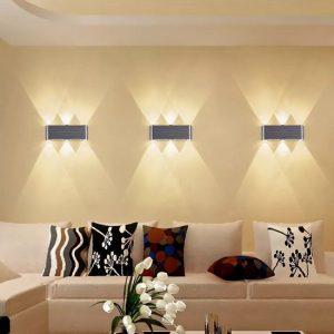 φωτιστικά τοίχος πίσω από καναπέ