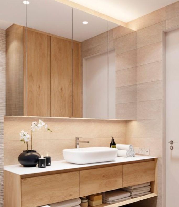 καθρέφτης μπάνιου ντουλάπια