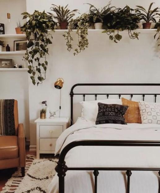 ράφι φυτά κρεβάτι