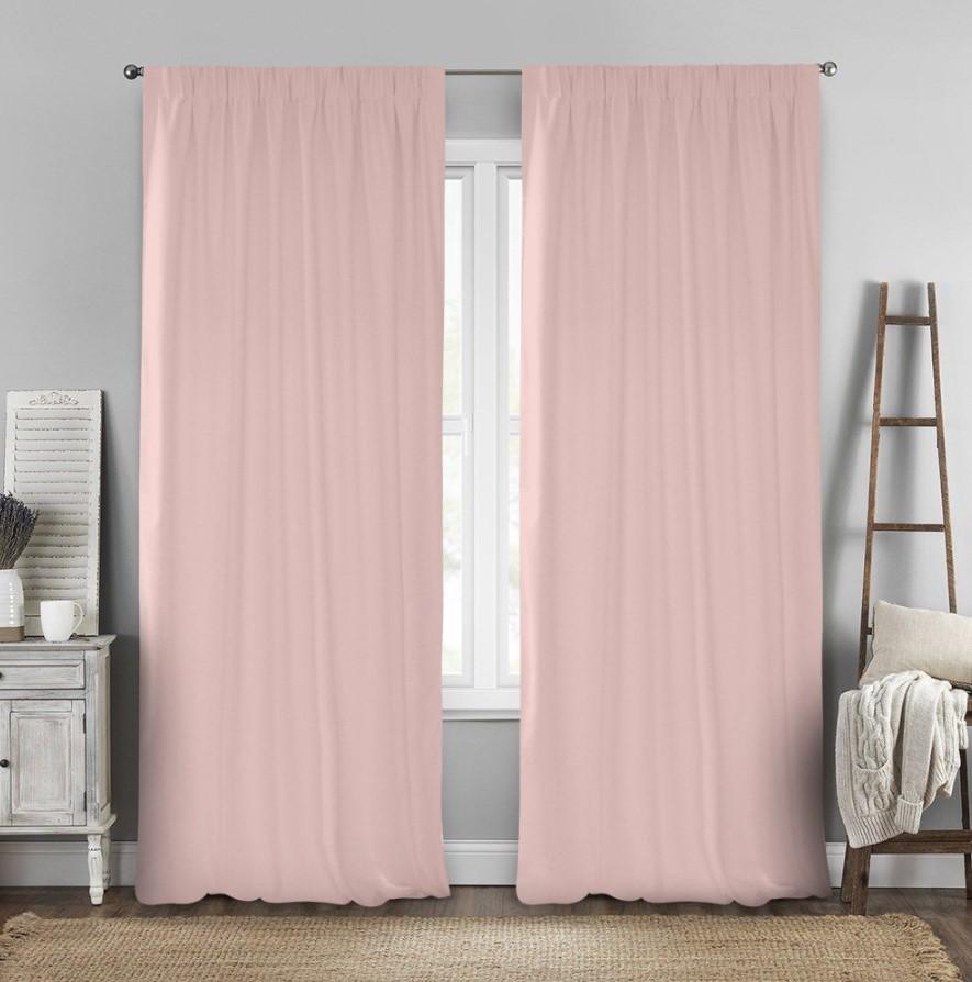 ροζ κουρτίνες
