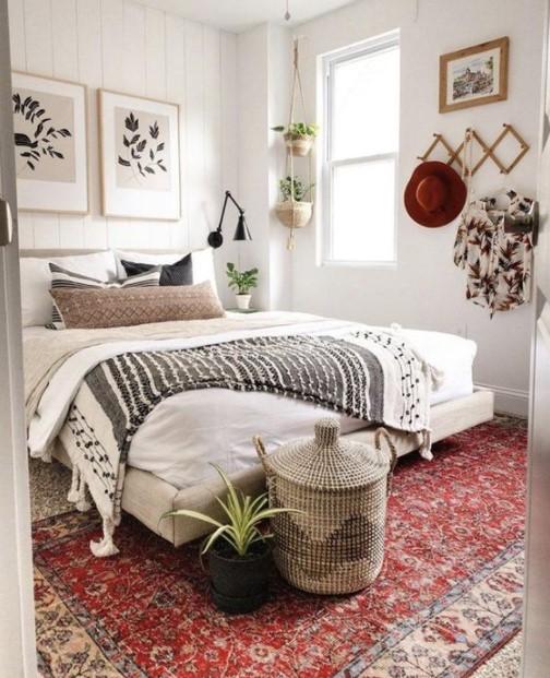 υπνοδωμάτιο boho στυλ ομορφύνεις δωμάτιο