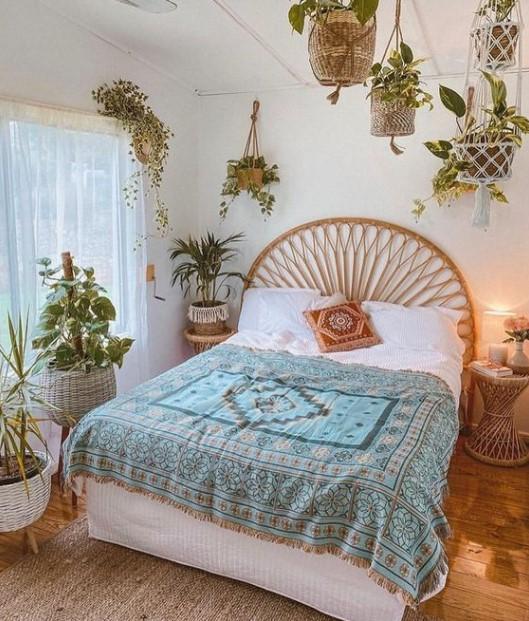υπνοδωμάτιο κρεμασμένα φυτά