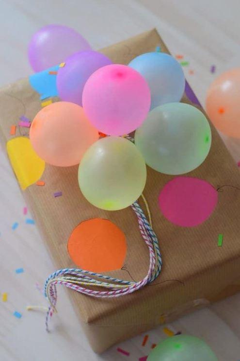 δώρο με μπαλόνια