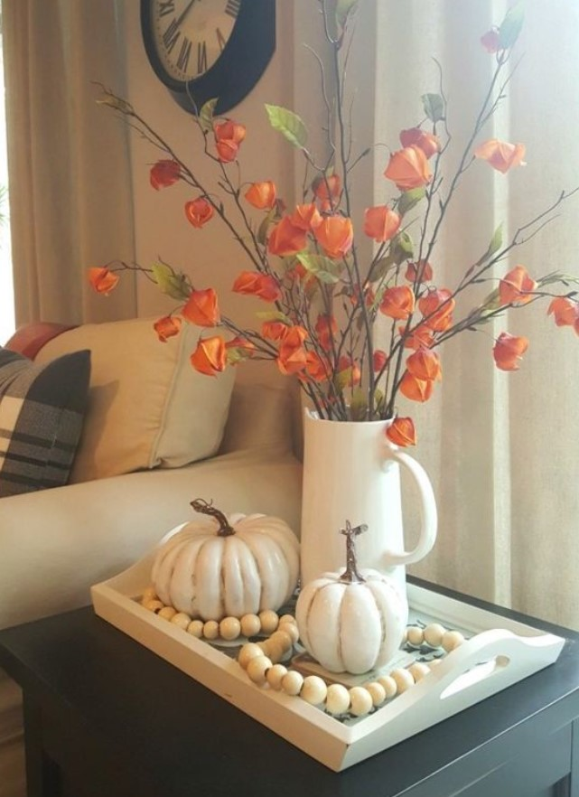 φθινοπωρινό decor στο σαλόνι