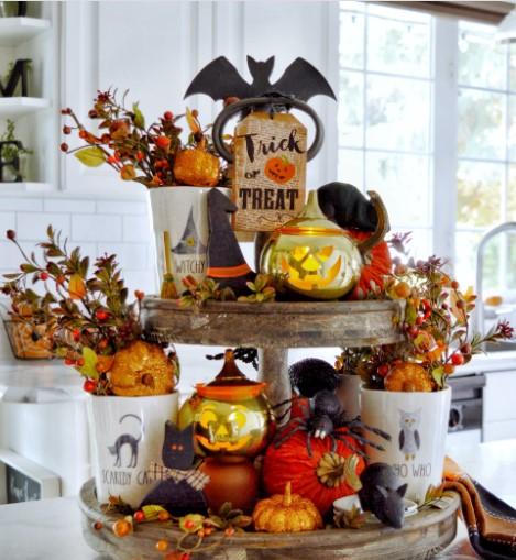 Halloween δίσκος φθινοπωρινοί δίσκοι