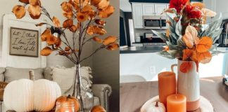ιδέες για φθινοπωρινή διακόσμηση στο τραπεζάκι του σαλονιού