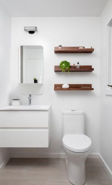 μίνιμαλ λευκό μπάνιο σκοτεινό μπάνιο