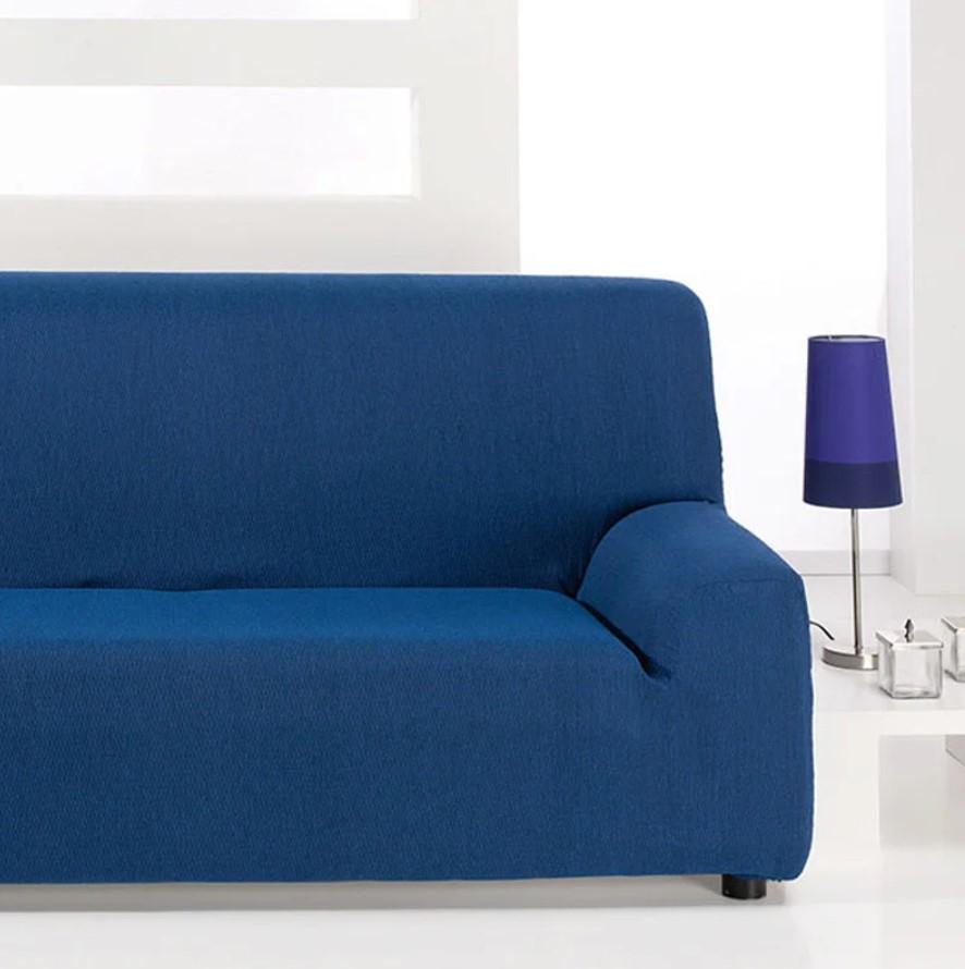 μπλε κάλυμα καναπέ