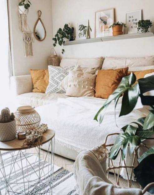 σαλόνι καναπές μαξιλάρια