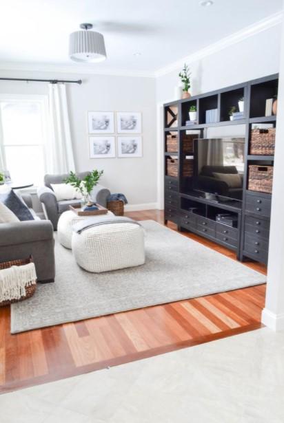 σαλόνι μεγάλο έπιπλο τηλεόρασης