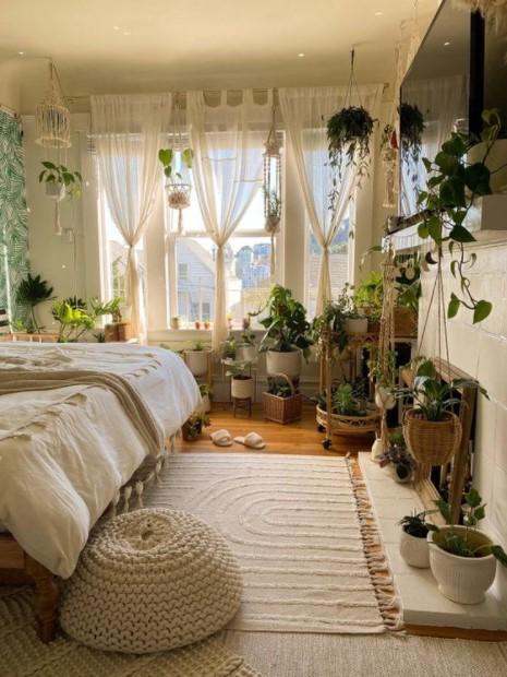 υπνοδωμάτιο πολλά φυτά
