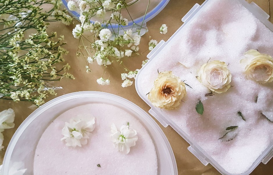 λουλούδια τάπερ silica gel αποξηράνεις λουλούδια