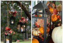 φαναράκια σε φθινοπωρινή διακόσμηση για πάρτι