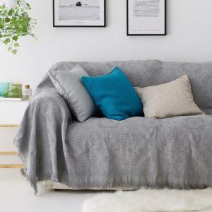 καναπές γκρι κάλυμμα
