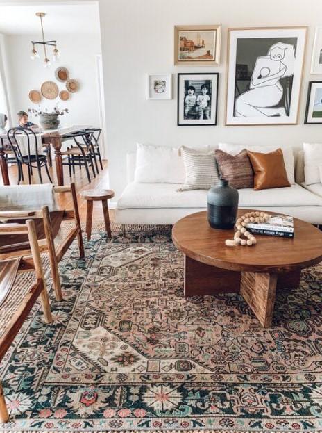 vintage χαλί σαλόνι